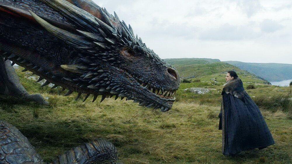 Poster Game of Thrones Musim 8 Tampilkan Naga Iron Throne