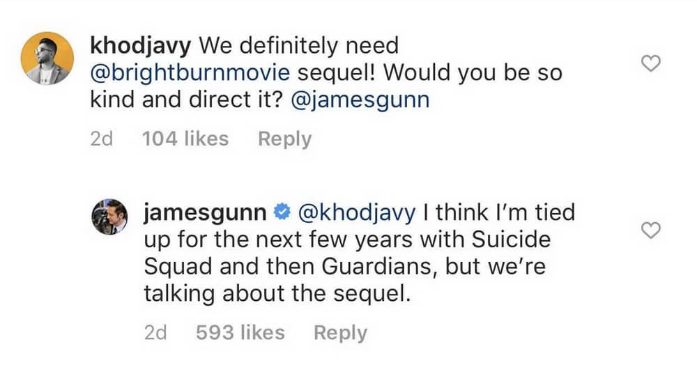 James Gunn Ungkap Kemungkinan Sekuel Brightburn