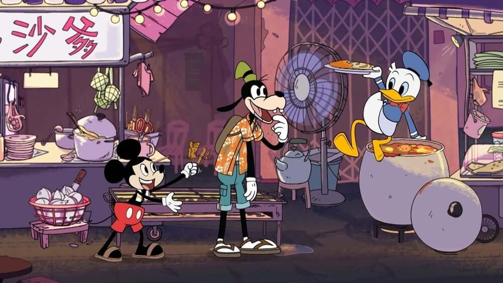 """Mickey Go Local"" – Mickey Mouse Jualan Sate di Singapura?"