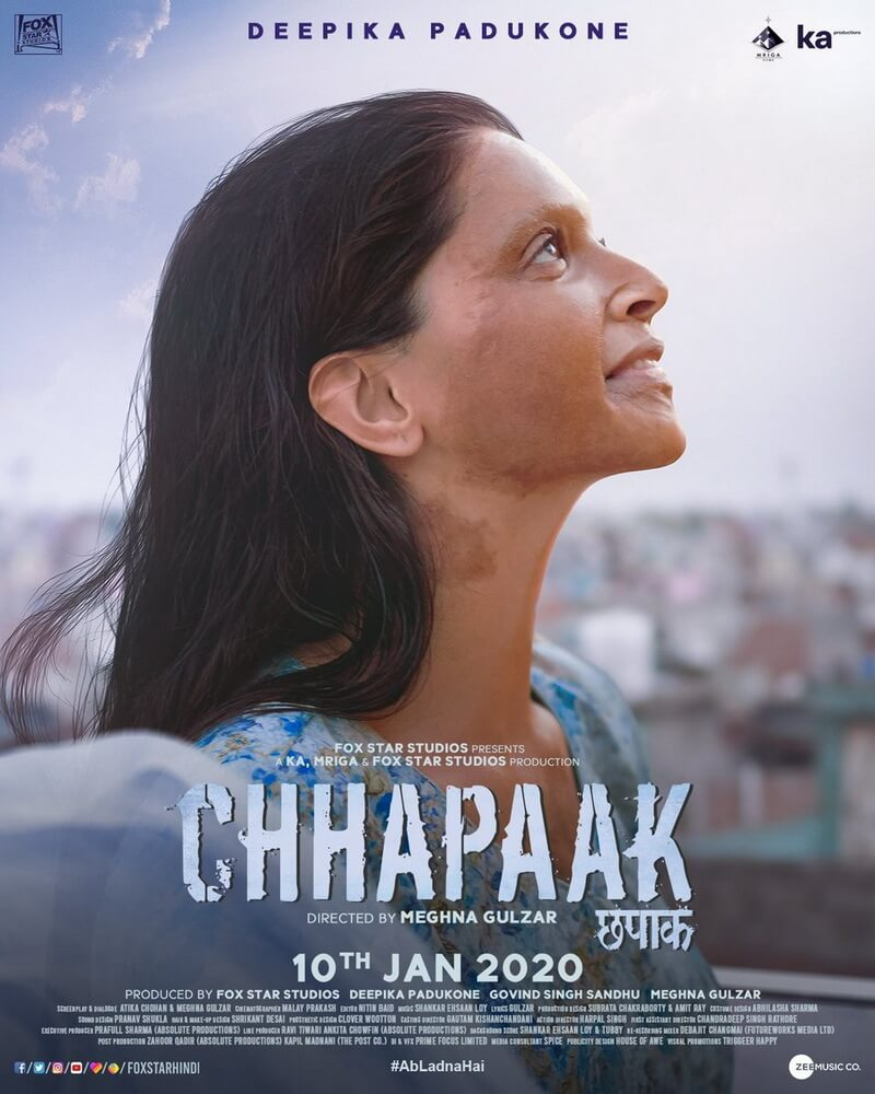 "Deepika Padukone Jadi Pejuang Trauma di Film ""Chhapaak"""