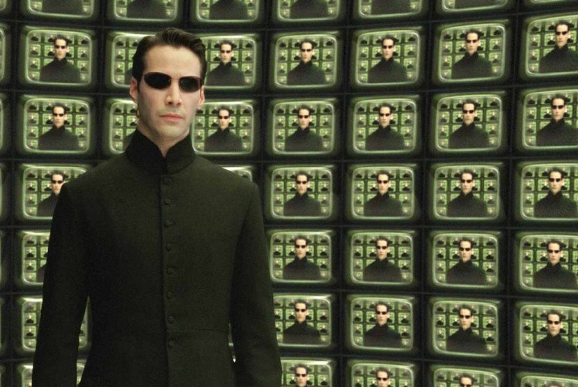Keanu Reeve sebagai Neo dalam Film The Matrix