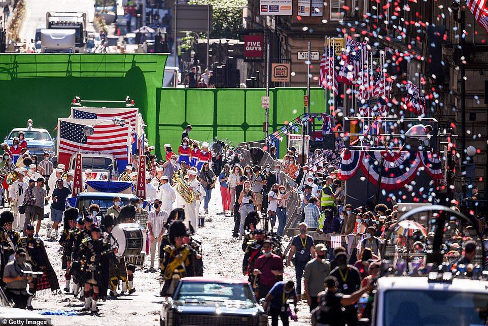 syuting parade di glasglow (sumber twitter)
