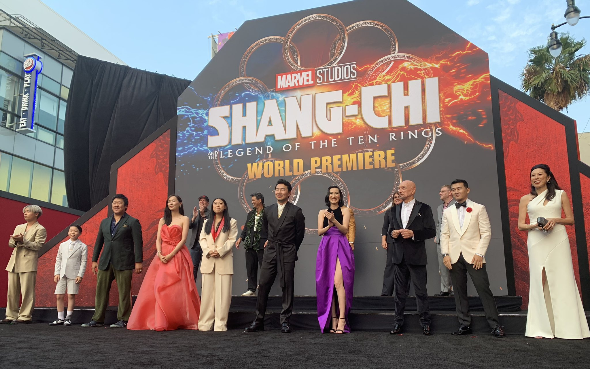 Para aktor Shang-Chi dalam acara Premiere