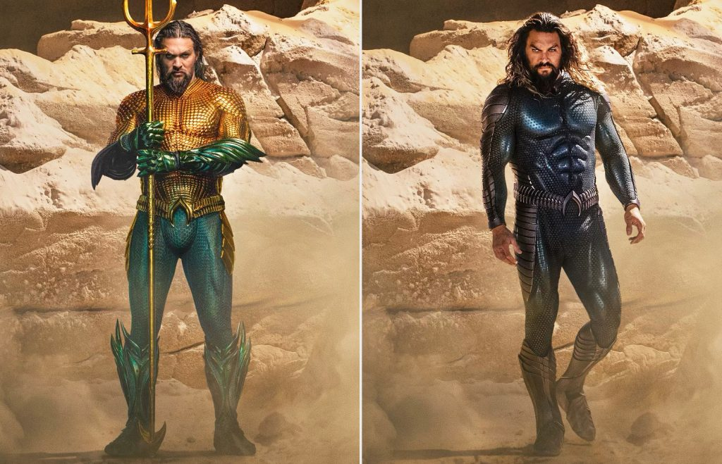 Perbandingan kostum Aquaman baru dan lama
