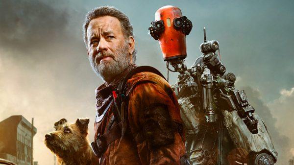 Tom Hanks dan dua temannya dalam film Finch